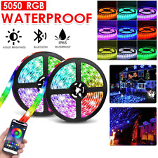 5M RGB LED Strip Lights Waterproof 5050 150LED Bluetooth Controller /12V AU Plug