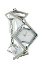 Nixon A299 100 The Maven Women's White Silver Tone Open Link Analog Bangle Watch