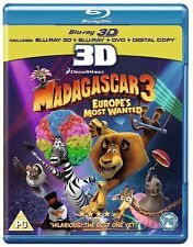 Madagascar 3 - Europe's Most Wanted (3D Blu-ray, 2013)