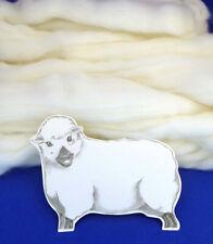 White Wool Corriedale Needlefelting Top Roving Dyed Spinning Wet Felting Fiber