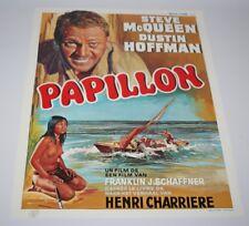 Belgian Film / Movie Poster - Papillon - Steve McQueen / Dustin Hoffman - 1973