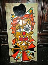 TABLEAU en carreaux ceramique vallauris la grange clown annees 60