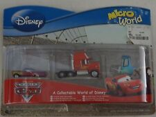 Il MONDO DI CARS 3 Pack Set-DA COLLEZIONE UN MONDO DI DISNEY Micro World