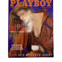 PLAYBOY Back Issue Magazine Vintage Centerfold February 1986 Michael Douglas