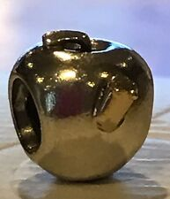 Genuine Pandora Apple & 14ct Gold Worm Charm ALE925 Sterling Silver