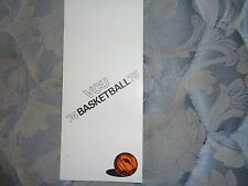 1974-75 VCU RAMS BASKETBALL MEDIA GUIDE 1975 GERALD HENDERSON Boston Celtics AD