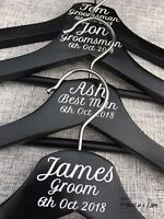 Personalised Coat Hanger Wedding Bridal Party, Bride, Groom.