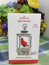 Hallmark Christmas cardinal ornament 2015 Magic sound