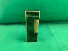 DUNHILL Rollagas Lighter Green Marble Lacquer Gold