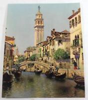 "Rare ""Sunny Venice"" by Martin Rico Salesman Sample Calendar Litho Print"