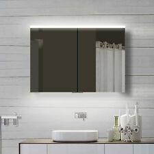 LED Badezimmer Wand Spiegelschrank in Warm/Kaltweiß Alu-Rahmen YDC100-70DP
