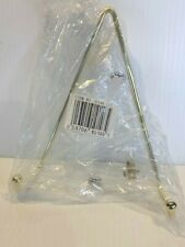 """Brass-Plated Plate Hanger, Fits Plates 8"""" to 12"""", Andrea by Sadek, NIP   B8"""
