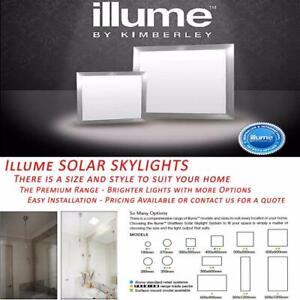 Illume LED Indoor Skylights Solar Powered Premium Range All Sizes Kimberley