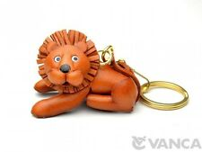 Lion Handmade 3D Leather (L) Keychain Bag Charm *VANCA* Made in Japan #56150