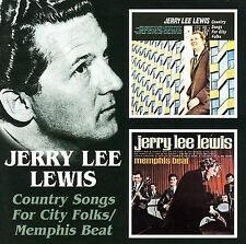 Country Songs for City Folk/Memphis Beat by Jerry Lee Lewis (CD, Jun-2005, Bgo)
