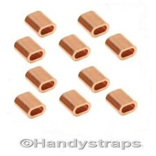 10 x 5mm Copper Ferrules for 5mm Stainless Wire Rope