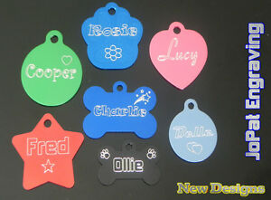 Dog Cat Puppy Kitten Collar Tag Pet ID Name Tags