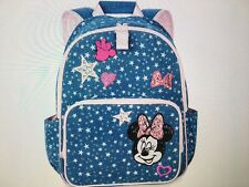 """New listing Nwt Disney Store Minnie Mouse Demin Backpack 16"""" School Girls"""