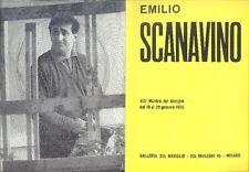Emilio Scanavino. Pieghevole mostra galleria del Naviglio 1965