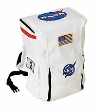 AERO-ABP-Aeromax Jr. Astronaut Backpack, White, with NASA patches