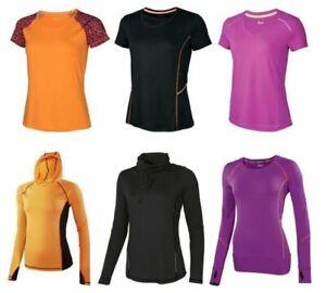 Damen Funktionsshirt Fitness Shirt Laufshirt Kurzarm Langarm Laufen Sport