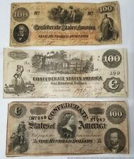 1862 1864 $100 Richmond Confederate States American Currency Note Collection