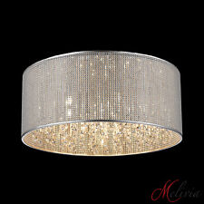 Plafonnier Suspension 45 cm Design Paillettes sur fil de fer Cristal Table