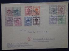 Germany 1946 Sangerstadt -Finsterwalde  Local Issue Mi # 1-12 cover to Leipzig