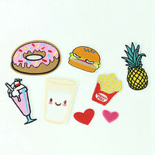8Pcs Diy Embroidered Food Sew Iron On Patch Badge Bag Clothes Fabric Applique