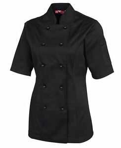 Ladies Short Sleeve Chefs Jacket