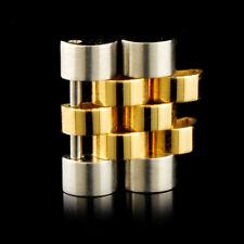 GENUINE ROLEX 18KT GOLD/SS MENS JUBILEE DOUBLE LINK 16013 16233 1601