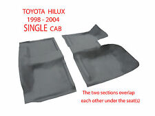 To suit Toyota Hilux Ute Single Cab 1998-2004 Front + Rear Moulded Rubber Vinyl