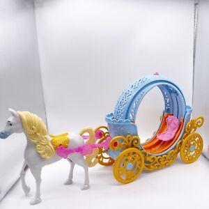 Disney Princess Dolls Cinderella TRANSFORMING MAGICAL CARRIAGE & Toy Horse