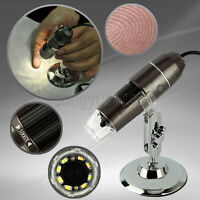New HD 1000x USB Digital Microscope Endoscope 2.0 Mega Pixels Magnifier 8LED 2MP