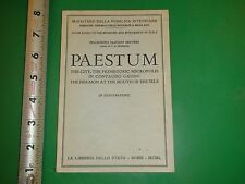 JD4 Vintage Travel Guide Book Museums & Monuments of Paestum Italy