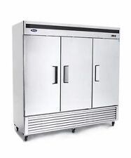 Atosa Mbf8504 72 Cu 3 Three Door Stainless Reach-In Freezer 220 V Free Liftgate