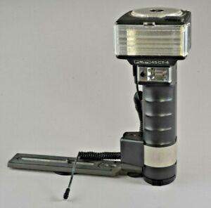 Metz Mecablitz 60 CT-4 Handle Mount Professional Flash Clean Used #125010