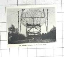 1957 Radio Telescope At Dwingelo With 25m Reflector