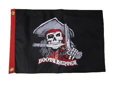 "12x18 Pirate Jolly Roger Booty Hunter Double Sided Nylon Flag 12""x18"""