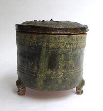 Ancien Tripode en CÉRAMIQUE plombifère dynastie HAN CHINE 206 av j-c 220 ap j-c