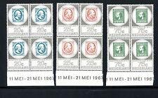 Netherlands #448-450 (NE196) Comp blocks of 4 Amphlex 67, MNH, FVF, CV$39.00