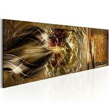 ABSTRAKT GOLD STRUKTUR OPTIK Wandbilder xxl Bilder Vlies Leinwand a-A-0226-b-a