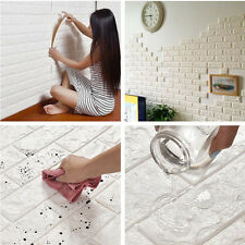Fashion 3D PE Foam Wall Stickers Decal Art Home Embossed Brick Stone Wall Decor