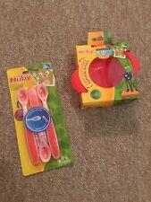 orange//rot NEU Hot SafeTM Wärmesensorlöffel  2er Pack Nüby Breilöffel OVP