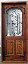 Rustic reclaimed solid Doug Fir door glass ironwork U choose dimension storybook
