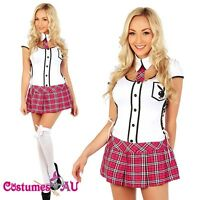 Ladies Sexy School Girl costume Teachers Pet Fancy Dress Hens Night Party Outfit