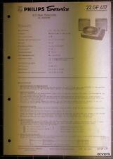 PHILIPS Service Dokumentation 22 GF 417, 10/1968, original + komplett