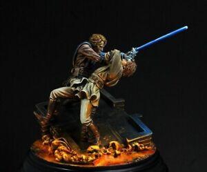1/24 70mm Resin Figure Model Kit Star Wars Skywalker vs Obi Unpainted Unassamble