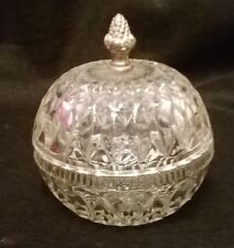 Indiana Glass Mount Vernon Round Candy Dish with Acorn Finial