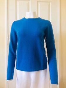 100% Cashmere Jumper Sailor Blue Vast Land Soft Warm Cosy Present Size 10